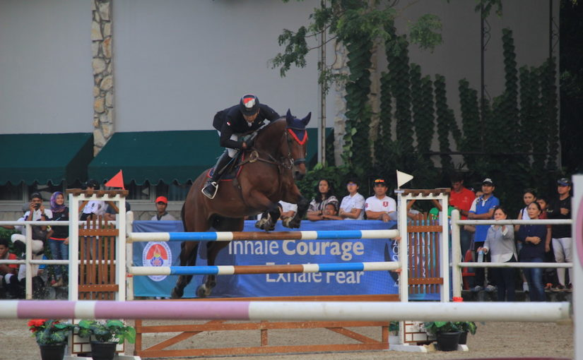 APM Charity Show Day 2: Ferry Wahyu Hadiyanto takes the 1.35m with Zandor