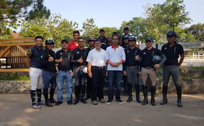 RoadtoAsianGames2018: Indonesian Eventing Team Meets the President