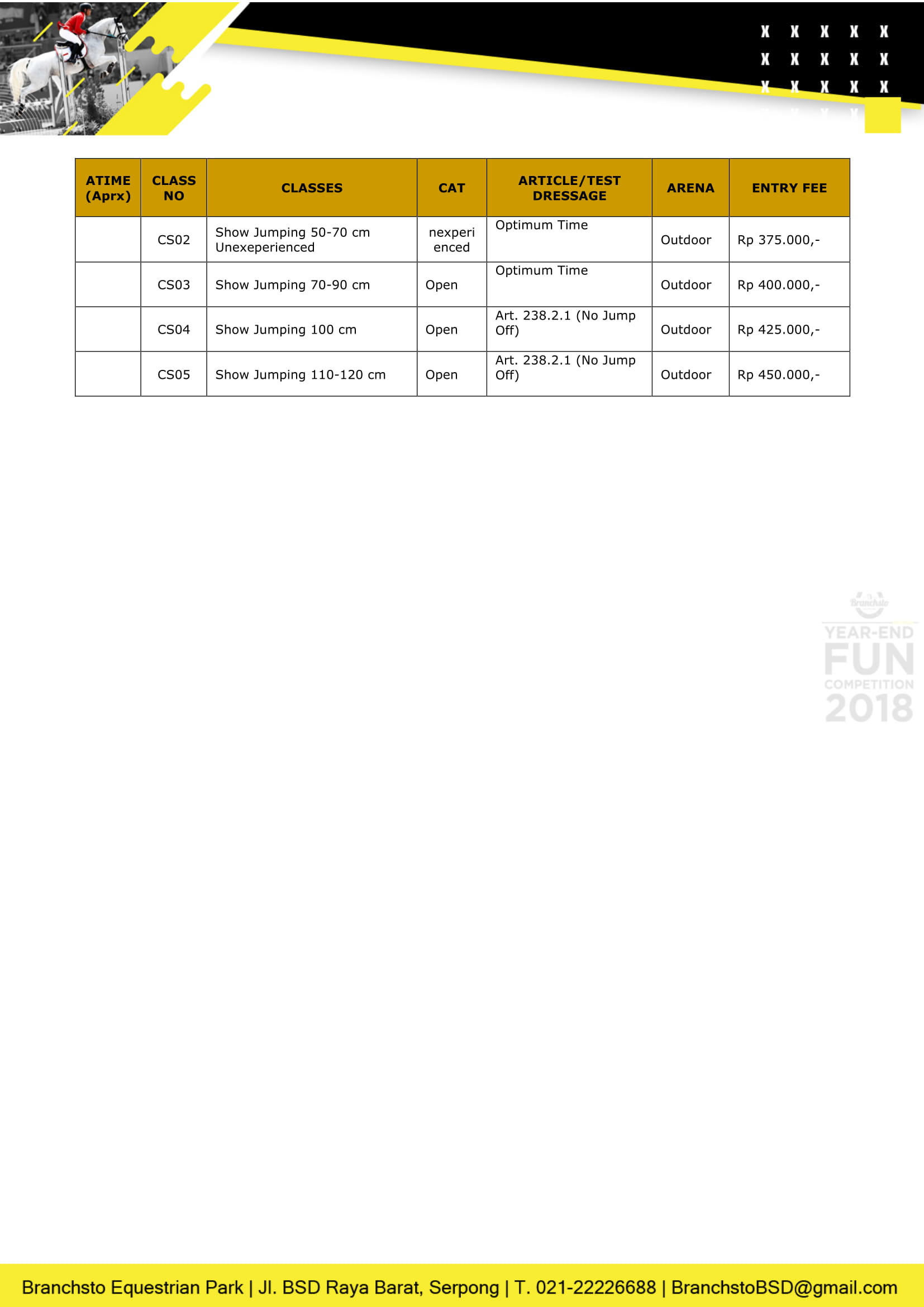 Competition Schedule 2