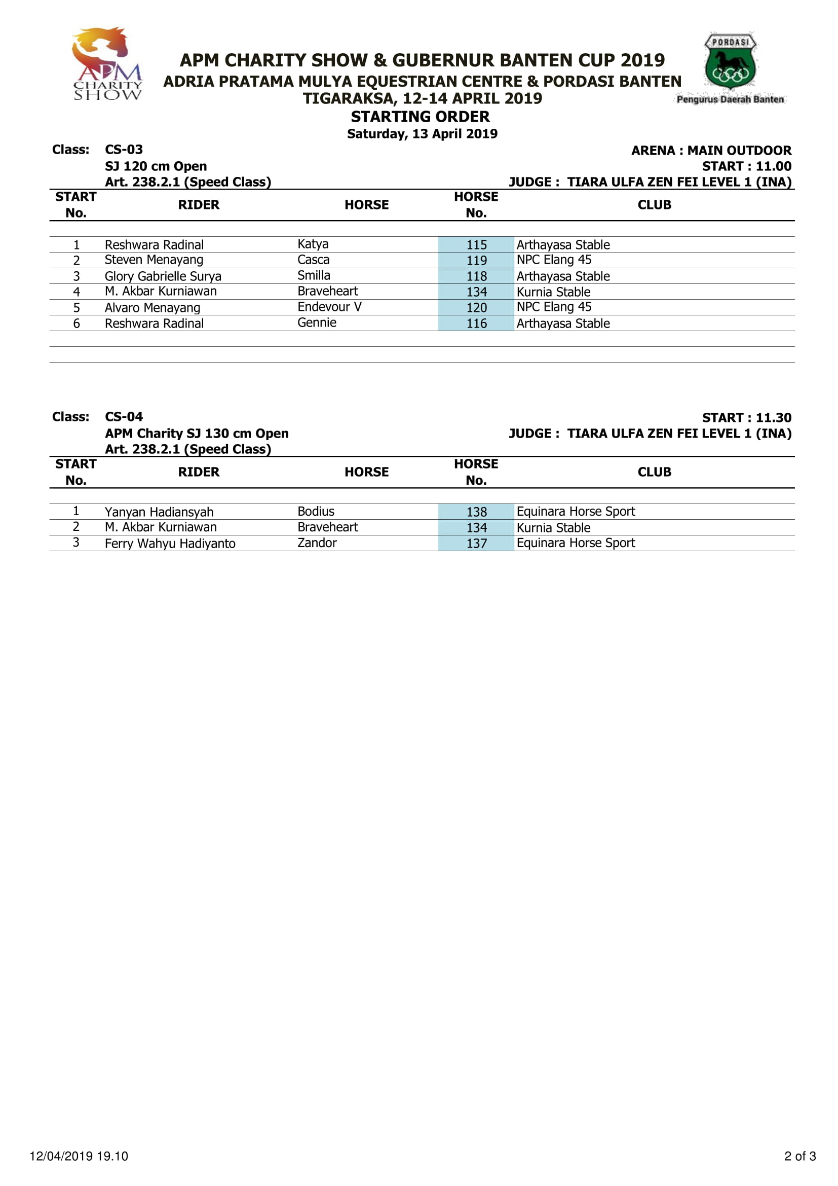 Show Jumping 11.00